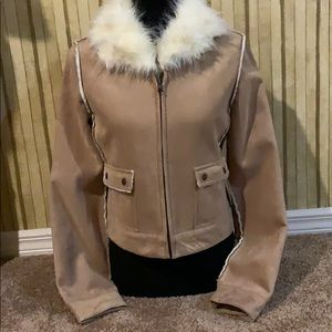Guess faux fur collared jacket.